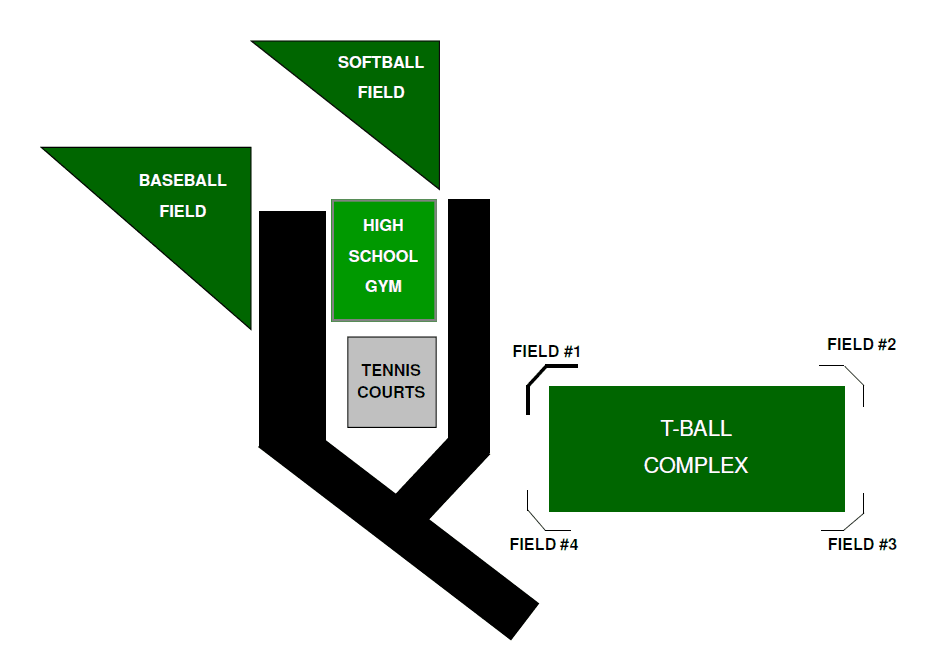 Map of Middle School Fields