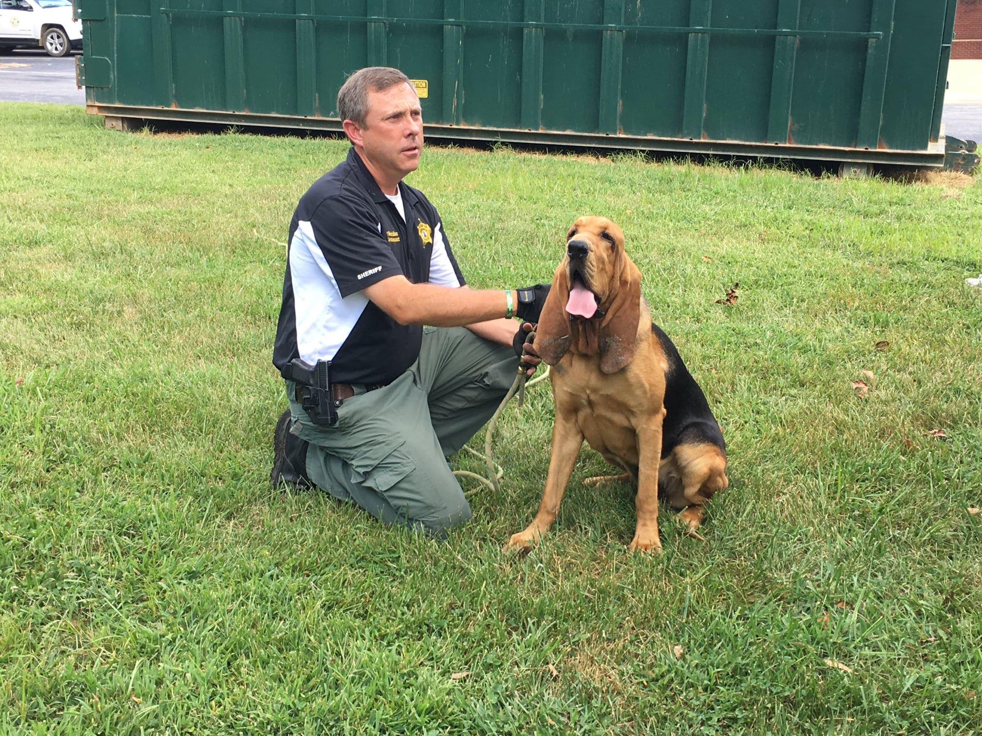 Lt Sheridan & K9 Ally During Citizens' Law Enforcement Academy